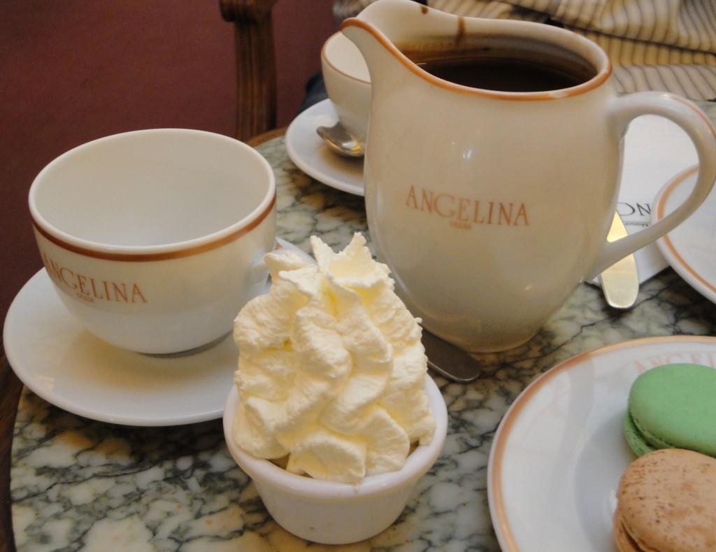 Hot Chocolate at Cafe Angelina
