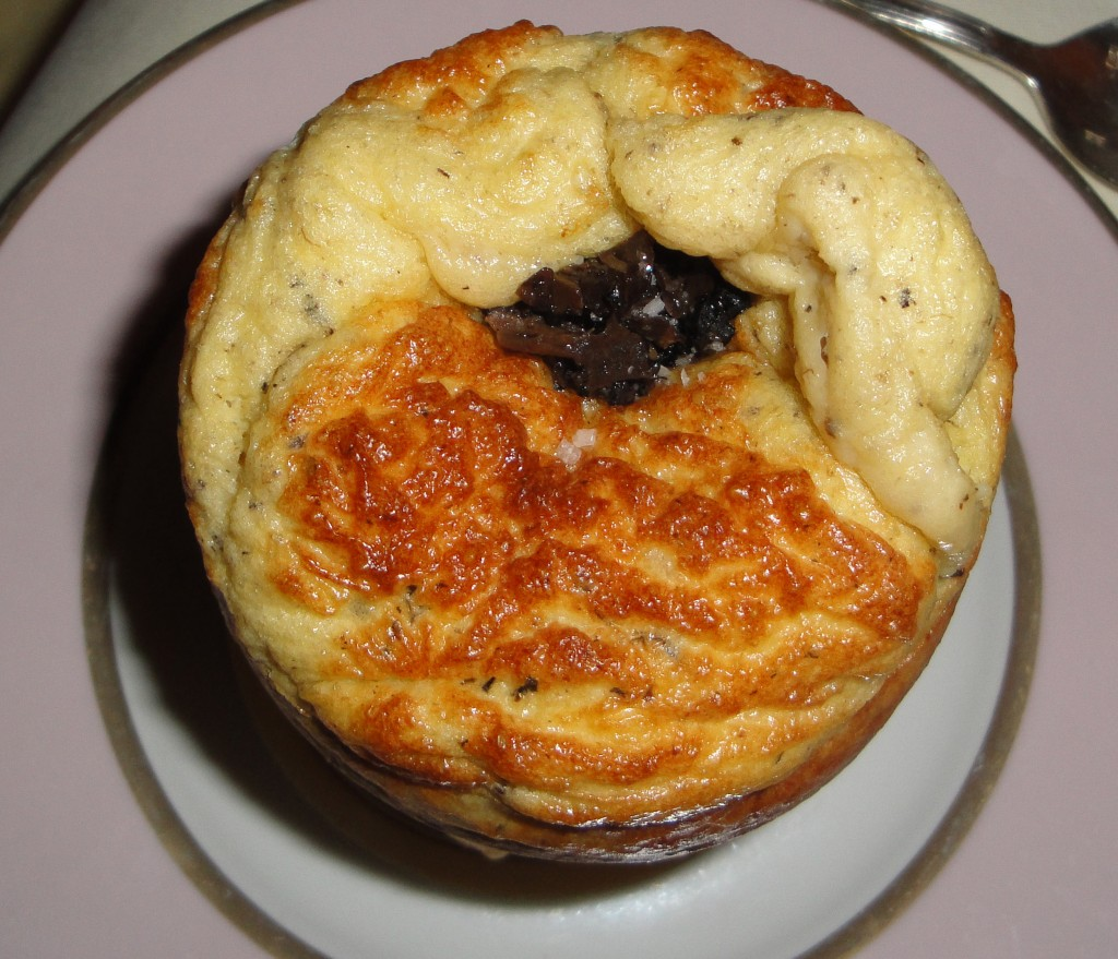 Celery and Black Truffle Souffle