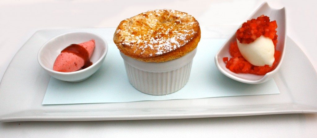 Frosted Pound Cake Souffle